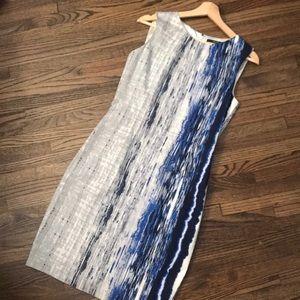Tahari blue patterned dress!